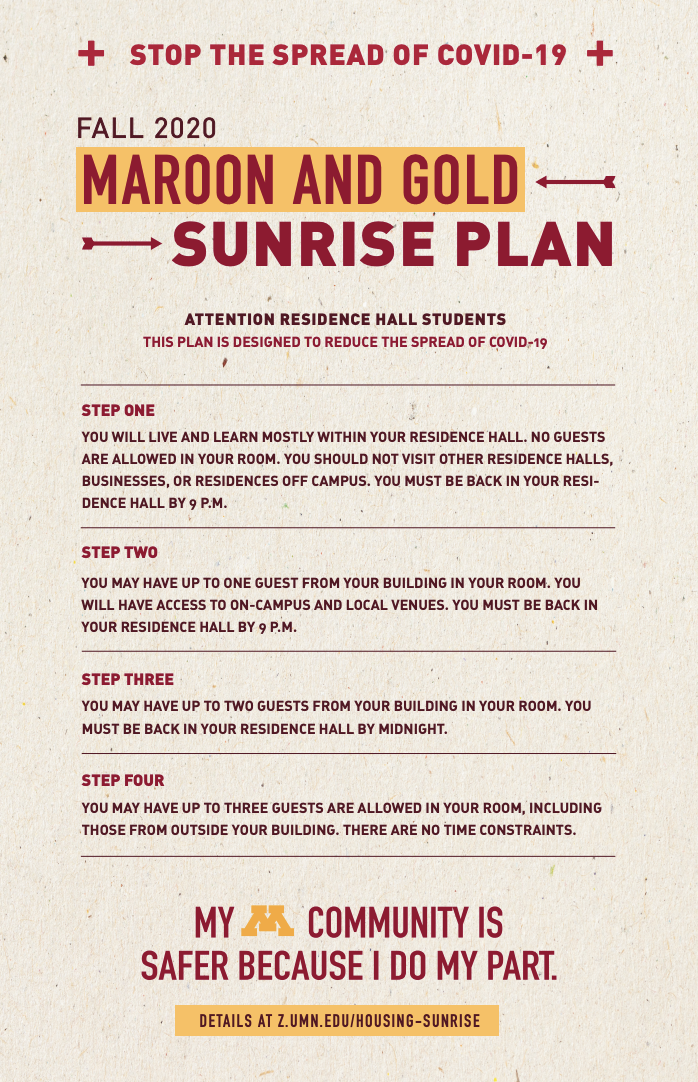 Maroon and Gold Sunrise Plan