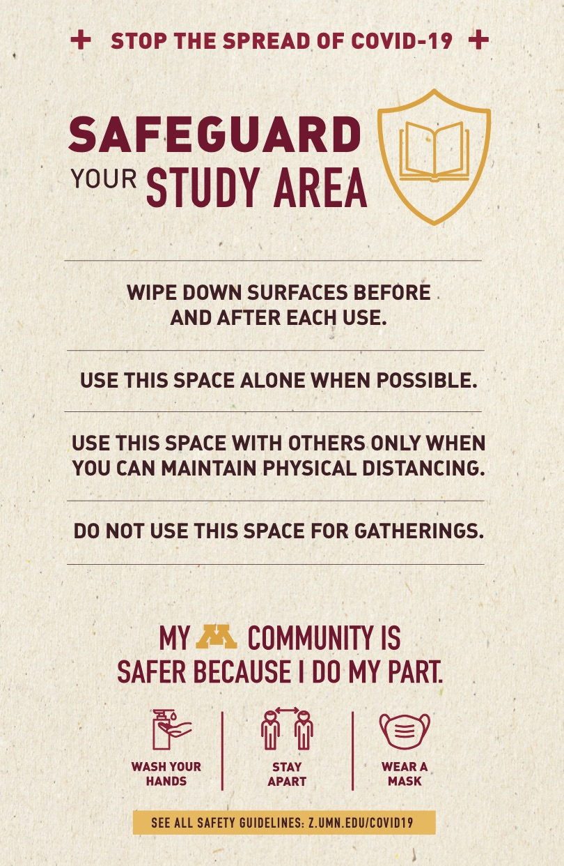 Study room safety poster